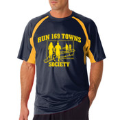 Mens Navy and Gold T